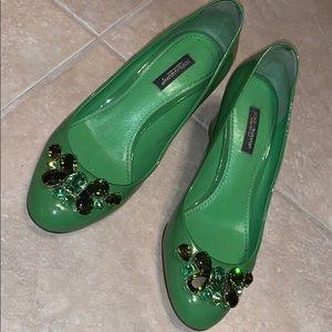 Dolce&gabbana green heels